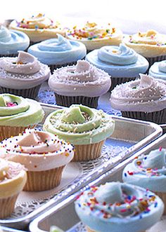 Magnolia Bakery Cupcakes   OMG,OMG,OMG, I can't believe I found this recipe. Brought some home from New York but never made it to Denver. I will be making these ASAP and teach my granddaughter, someday, lol.