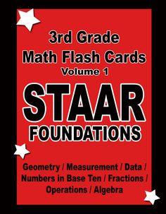 3rd Grade STAAR Math Foundations Flashcards Vol1