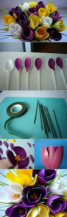 Plastic spoon upcycle!