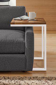 Room & Board - Pratt C-tables - Modern End Tables - Modern Living Room Furniture Room And Board Furniture, Home Decor Furniture, Home Decor Bedroom, Furniture Makeover, Living Room Furniture, Industrial Design Furniture, Metal Furniture, Furniture Design, Sofa Arm Table