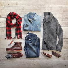 Wearing winter for as long as I can. Cardigan: @grayers Birch Boiled Wool Shirt/Scarf: @llbean Signature Boot Socks: @ledburyshirts Boots: @rancourtco Belt: @toddsnyderny Denim: RRL @ralphlauren Glasses Case: @headlandsqg Watch: @miansai by thepacman82