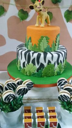Amazing cake at a jungle birthday party! See more party ideas at CatchMyParty.com!