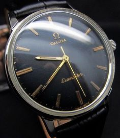 VINTAGE OMEGA SEAMASTER BLACK MEN'S CAL.601 SWISS WATCH-SERVICED #OMEGA #Luxury
