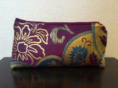 Obi / Kimono / Pouch / PP793 Gorgeous Antique Purple Obi Pouch