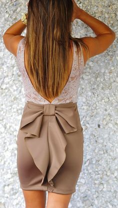 Stylish knot skirt and floral detail lace combo fashion  (love this but would like it a bit longer)