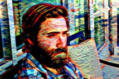 Bearded Gaze created with Painnt app | Filter > Colored Patches. Painnt uses neural networks to generate gorgeous artwork from your Camera roll. #trippy #digitalart  #filter