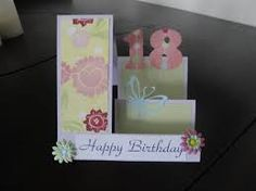 Image result for handmade 18th birthday card