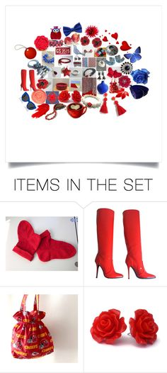 """Red and Blue Collection"" by crystalglowdesign ❤ liked on Polyvore featuring art"