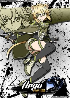Argo is from Sword Art Online Sword Art Online Alo, Online Art, Fantasy Characters, Anime Characters, Lion Dragon, South Indian Actress Hot, Argo, Drawing Challenge, Anime Artwork