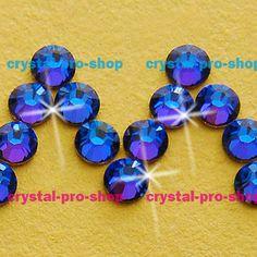 Swarovski Elements Meridian Blue (MBL) No Hotfix or Hotfix Iron On (ss5 - ss34) (2mm - 7mm) Crystal (144 / 288) Rhinestones