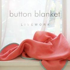 <3 'iswas – Contrast-Trim Fleece Button Blanket' at YesStyle.com