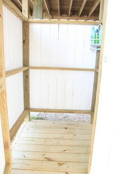 outdoor shower - easy to build.