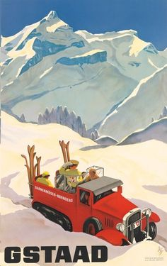 Alex Diggelmann's Gstaad poster (1934)