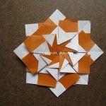 Origami Instruction Mandala Flora