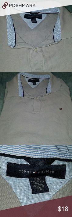 mens polo shirt xxlTTC XXG Men's Tommy Hilfiger grey polo shirt tall extra extra G Tommy Hilfiger Shirts Polos