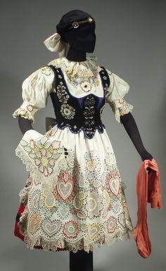 RARE Czech Folk Costume Embroidered Blouse Beaded Apron Fish Scale Vest Bohemian | eBay