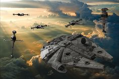 More 3D rendered Star Wars OC. The clouds in this one look a bit like Bespin to me.