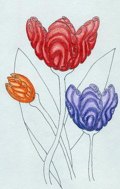 tulips...colored pencil