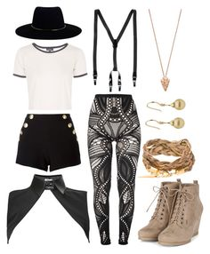 """""""Mixed Hipster"""" by l4lifel ❤ liked on Polyvore featuring French Connection, Boutique Moschino, Neat Collar, Topshop, Dolce&Gabbana, Pamela Love and Zimmermann"""