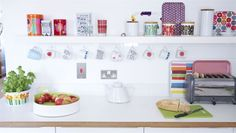 Jane Foster's colourful open shelving in the kitchen | live from IKEA FAMILY