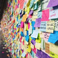 When CNN takes a photo of the beautiful wall of post-its lining the NYC subway, and this happens: #AlltheBrightPlaces stickies with a #HoldingUptheUniverse message appear at its heart. ❤️ Thank you @jillianvandall for putting them there. And thank you to everyone for sharing messages of love when we need them most. ✨ #youarewanted #youareloved #youarenecessary #nyc #nycsubway #postits #mybrightplace #positivity #affirmation #lovetrumpshate #lovewins #lovenothate #makeitlovely