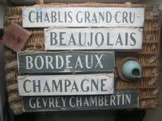 Shabby Chic Wine Signs with all the French Wine Appellations
