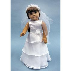 Holy Communion dress 22.49 For American Girl Doll