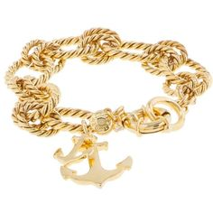 J.Crew Anchor charm bracelet ($68) ❤ liked on Polyvore