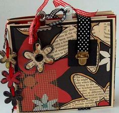 mini album gift by annette west on scrapbook-crazy.com - mini album tutorials and altered projects