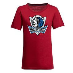 cool NBA Ladies' Dallas Mavericks Cotton Jersey Tee (Red)