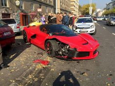 It's hard to feel too sorry for anyone who can afford a $1.4 million Ferrari… but it is certainly possible to feel sorry for the car itself. A video posted by YouTube userGábor Grubitsshows a man in Budapest crashing a $1.4 millionLaFerrari just minutes after he bought it and drove it off the lot.