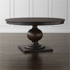 Shop Winnetka Dark Mahogany Round Extendable Dining Tables.   Have a metal worker wrap the top with copper?