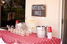watering hole sign  - chalkboard