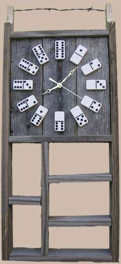 Domino Clocks - With their vintage rustic appearance, the Domino Clocks by ATM make a great addition to your game room or even your backyard patio.  Made using rec...