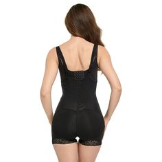 f37278754191d Queenral Women Bodysuit Padded Waist Trainer Butt Lifter Slimming Belly  Corsets -- Check out this