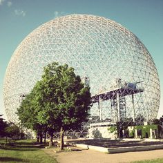Buckminster Fuller's American pavilion at Expo 67 in Montreal, now the Biosphere