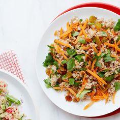 with creamy spiced carrot and raisin bulgur with creamy spiced carrot ...