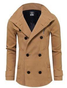 Tom's Ware Mens Stylish Fashion Classic Wool Double Breasted Pea Coat M Toms, Mens Wool Coats, Mode Mantel, Mens Winter Coat, Stylish Coat, Daily Fashion, Coats For Women, Double Breasted, Autumn Fashion
