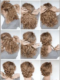 11 Cute Updos For Curly Hair 2018 Updo Pinterest Short Hair