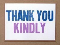 Macon York CARDS : Letterpress & Design. Thank you kindly