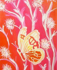 Butterflies in the Orange Sunset Hand Dyed Habotai Silk Scarf (approx. 11x60 inches) by Laura Elderton Silkinart