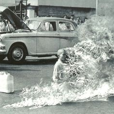 Thich Quang Duc - The Burning Monk of Vietnam 11th June 1963, Vietnam.