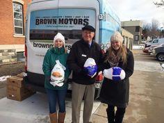 Brown Motors donates Thanksgiving turkeys to Br Dan's Food Pantry in Petoskey.