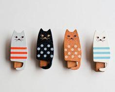 diy cat clothespins #CroscillSocial