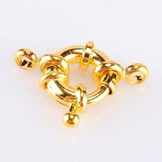 10pcs Gold Plated Copper Spring Rings Clasps,Round Claw Clasps Jewelry Finding on Etsy, $4.75