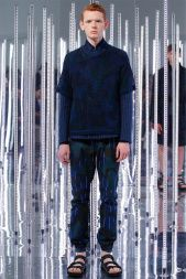 Sacai Man's Chitose Abe presented a collection that was very youthful due to its sporty, yet slim tailoring.  Take a look at the must-see menswear looks from Paris Fashion Week:   http://attireclub.org/2014/07/04/menswear-paris-fashion-week-spring-summer-2015/  #Paris #menswear #PFW #ParisFashionWeek #style #fashion #fashionweek #suits #elegance