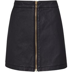 Reiss Ruth Coated Denim Mini Skirt, Night Navy (835 HKD) ❤ liked on Polyvore featuring skirts, mini skirts, short mini skirts, reiss, a line mini skirt, navy blue skirt and short skirts