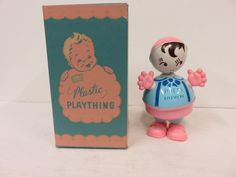 IRWIN PLASTIC PLAYTHING BABY DOLL SQUEAK RATTLE TOY VINTAGE ANTIQUE