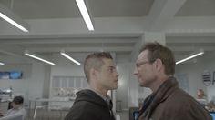 Rami Malek + Christian Slater in Mr. Robot #TV #MrRobot #RamiMalek #ChristianSlater