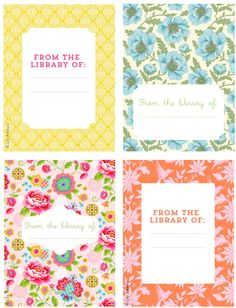 Free Printable Bookplates -from Lily Ashbury